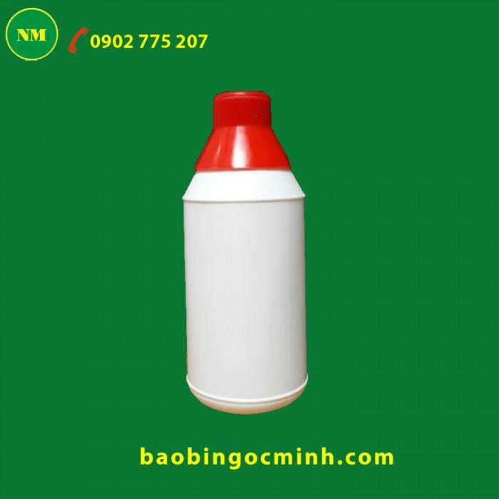 Chai nhựa 1 lít hdpe đựng nông dược. 8