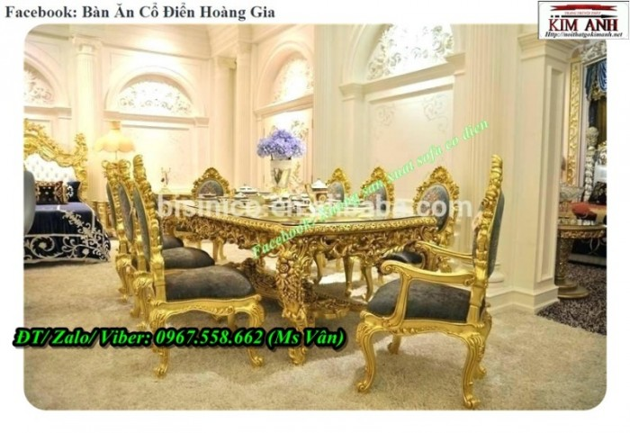 bộ bàn ăn gỗ quý cao cấp 8
