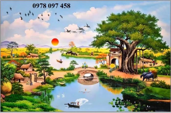 Tranh thiên nhiên đẹp- tranh gạch2