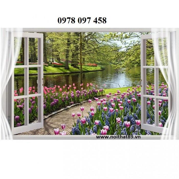 Tranh gạch men - tranh cửa sổ0