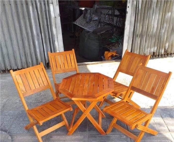 Bàn ghế cafe gỗ quán cóc giá rẻ2