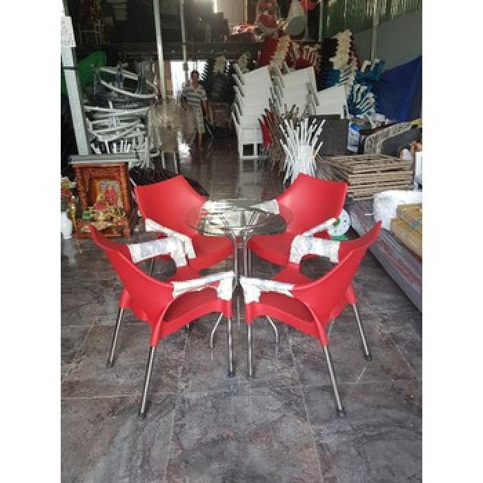 Bàn ghế nhựa cafe sân vườn0