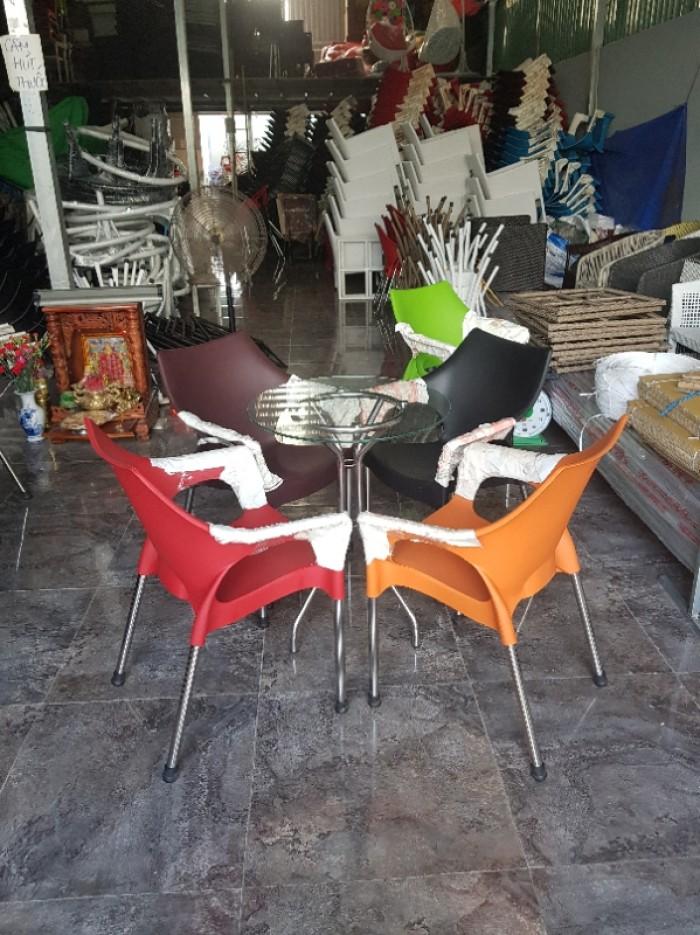 Bàn ghế nhựa cafe sân vườn1