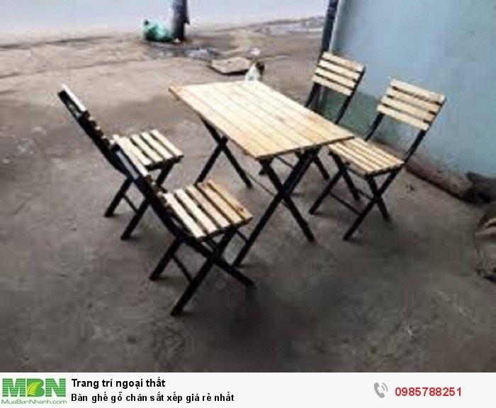 Bộ bàn ghế cafe, bàn ghế gỗ quán nhậu giá rẻ4