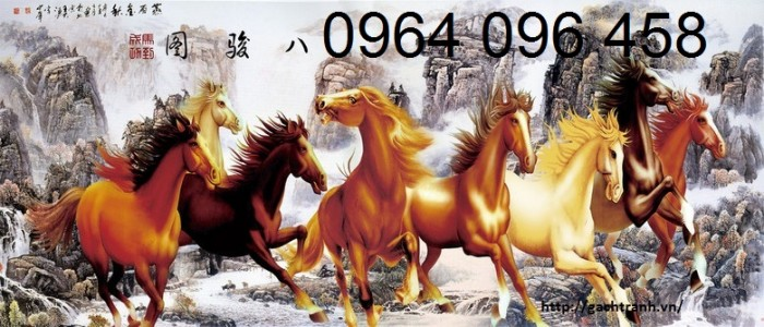 Mẫu tranh 3d con ngựa - 67JK