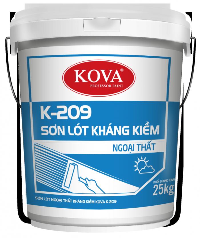 Sơn lót kháng kiềm kova K-209 ngoài trời thùng 25kg0