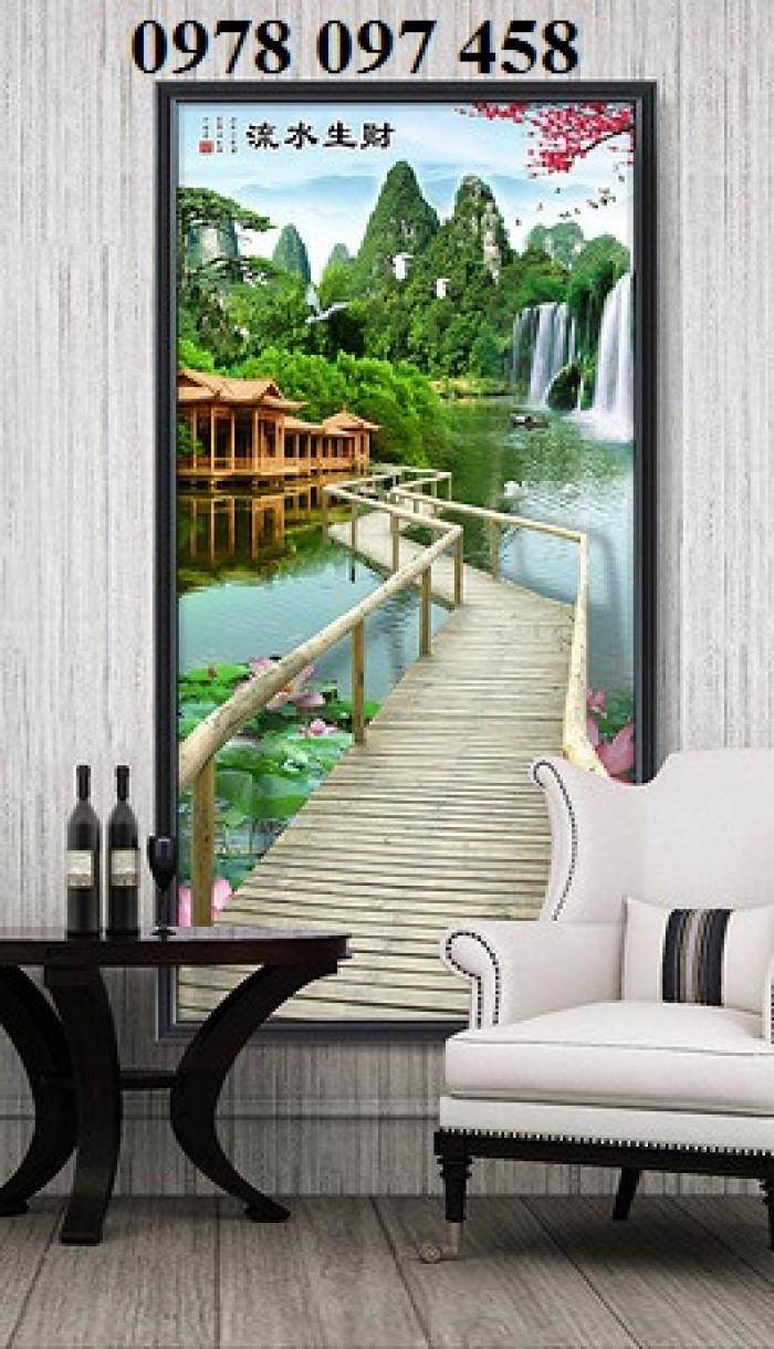 Tranh đẹp phòng khách- tranh gạch 3D2