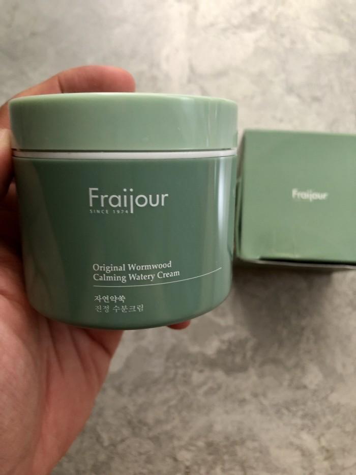 Kem dưỡng thảo mộc Fraijour Original Herb Wormwood Watery Cream xách tay Hàn3