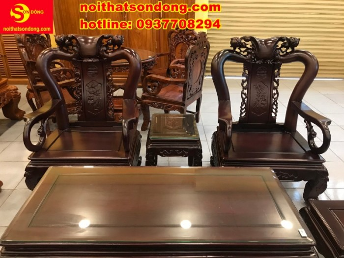 Bộ bàn ghế chạm đào đẹp mê ly giá mê ngay4