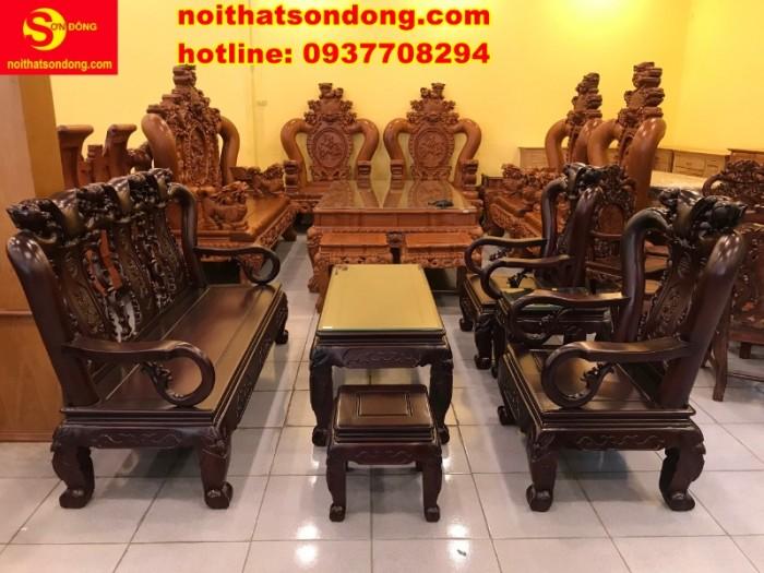 Bộ bàn ghế chạm đào đẹp mê ly giá mê ngay3