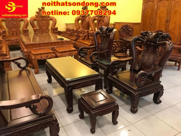 Bộ bàn ghế chạm đào đẹp mê ly giá mê ngay6