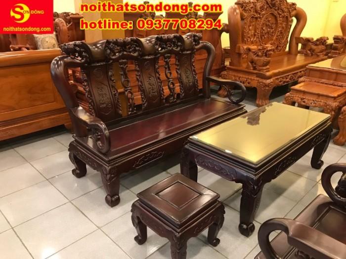Bộ bàn ghế chạm đào đẹp mê ly giá mê ngay7