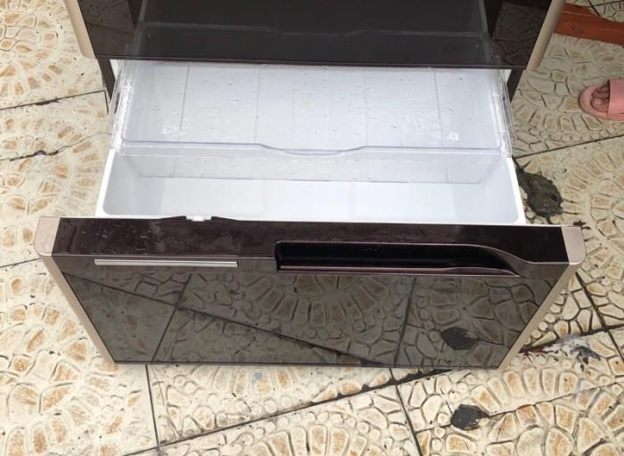 Tủ lạnh HITACHI R-G5200D 6 cánh, mặt gương màu NÂU ĐỎ, 517L, Date 20135