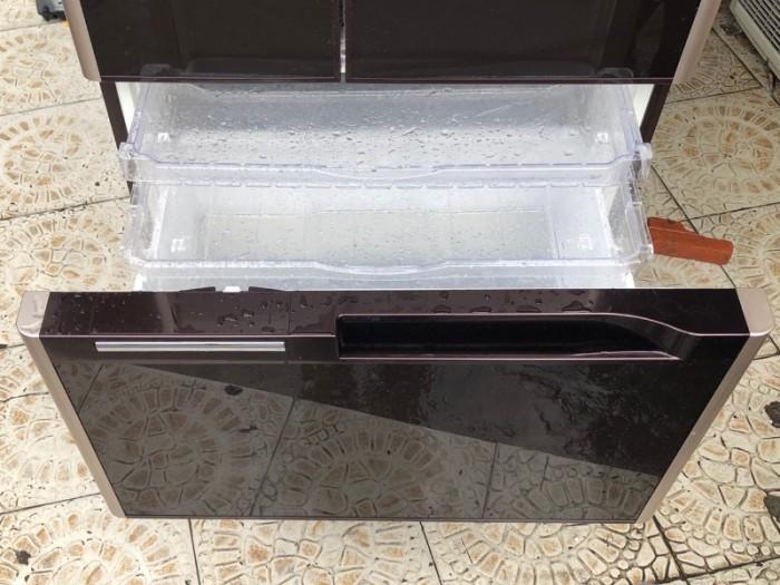 Tủ lạnh HITACHI R-G5200D 6 cánh, mặt gương màu NÂU ĐỎ, 517L, Date 20136