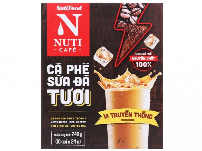 Cà phê sữa đá tươi NUTICAFÉ 3 trong 1 240g3