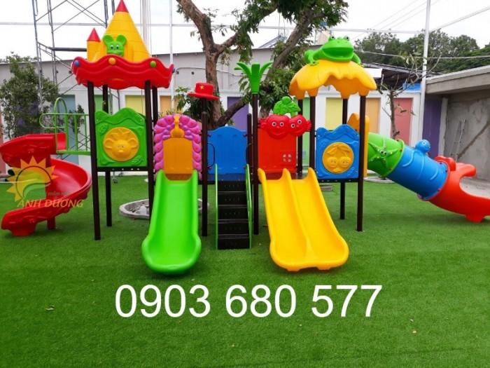Chuyên cầu trượt liên hoàn ngoài trời cho trường mầm non, công viên, sân chơi3