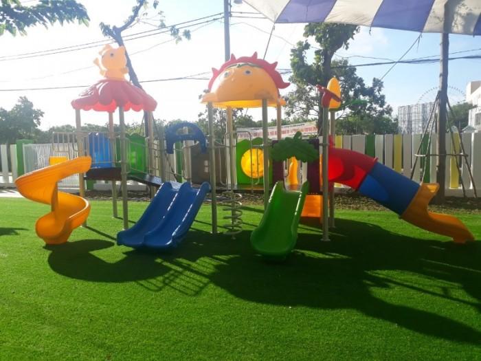 Chuyên cầu trượt liên hoàn ngoài trời cho trường mầm non, công viên, sân chơi5