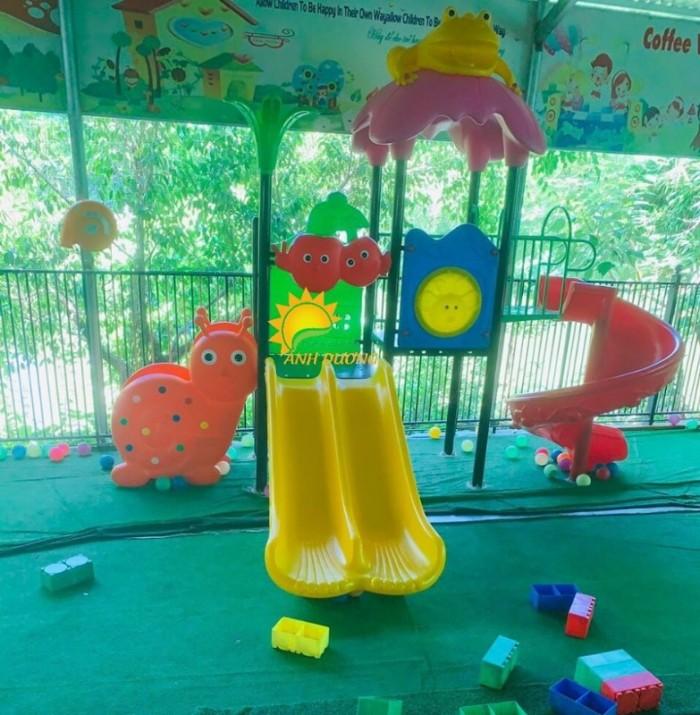 Chuyên cầu trượt liên hoàn ngoài trời cho trường mầm non, công viên, sân chơi7