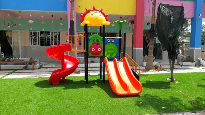 Chuyên cầu trượt liên hoàn ngoài trời cho trường mầm non, công viên, sân chơi8