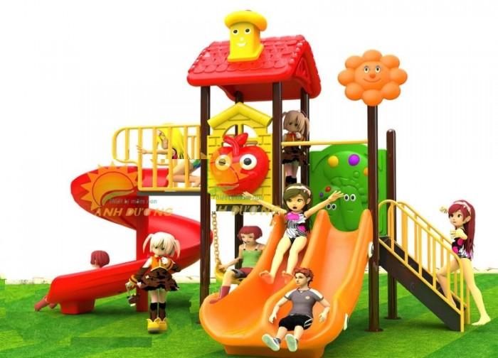 Chuyên cầu trượt liên hoàn ngoài trời cho trường mầm non, công viên, sân chơi15