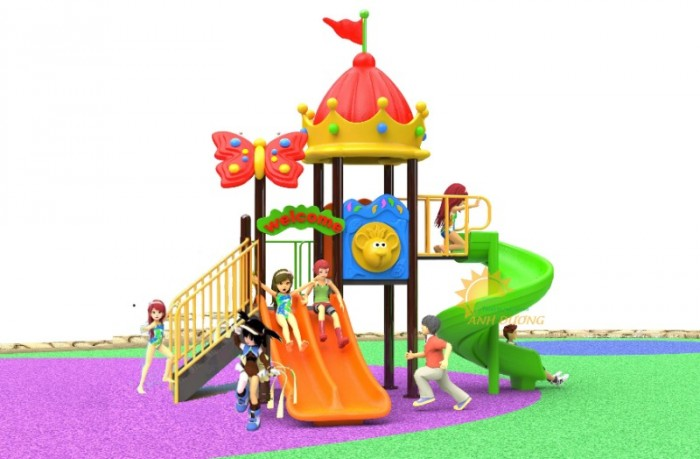 Chuyên cầu trượt liên hoàn ngoài trời cho trường mầm non, công viên, sân chơi16