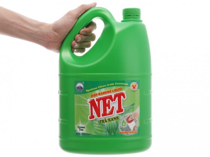 Nước rửa chén NET kháng khuẩn hương trà xanh can 3.88 lít1