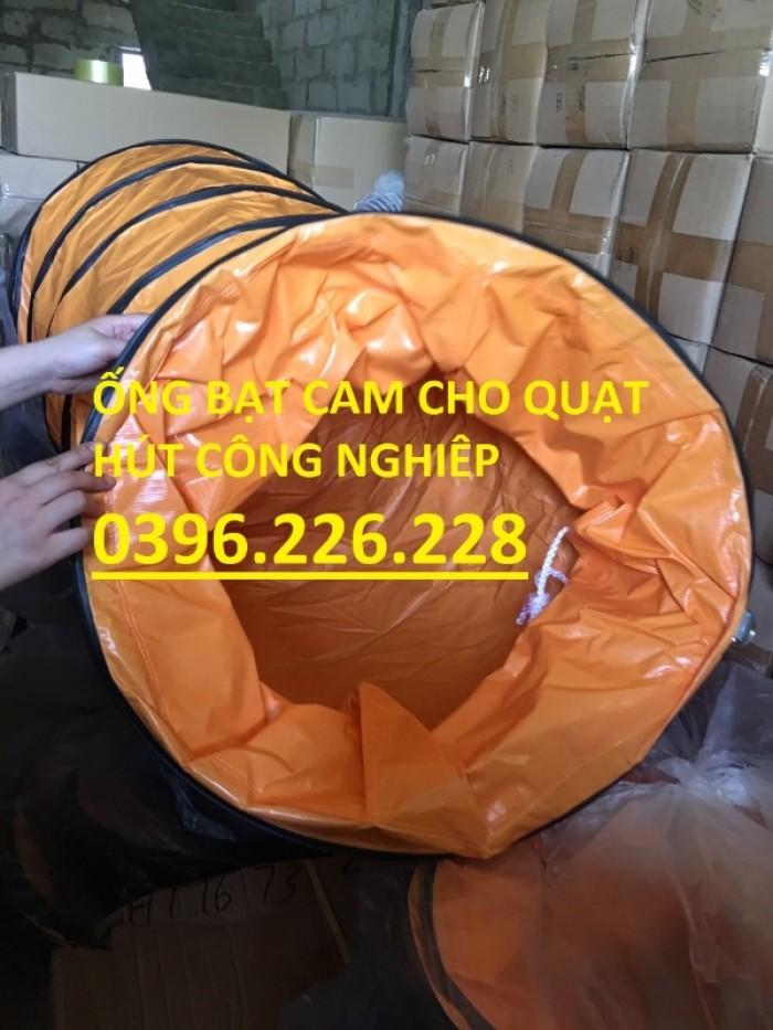 Ống gió mềm vải simili cam đường kính D3505