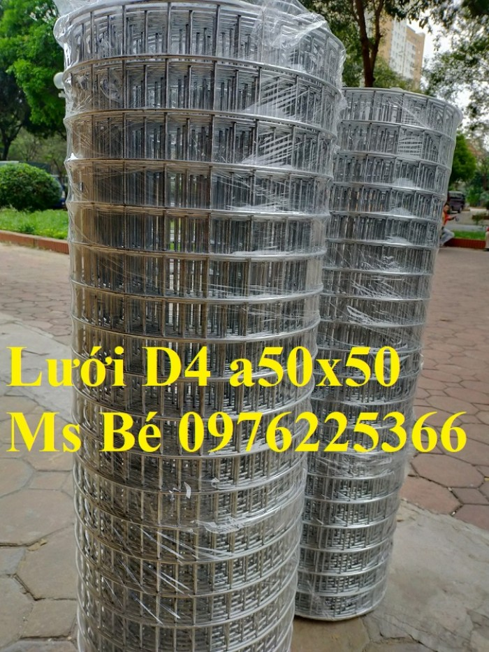 Lưới thép mạ kẽm, lưới hàn mạ kẽm D2, D3 a50, D4 a50 sản xuất theo yêu cầu7