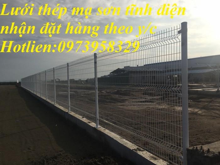 Hàng rào lưới thép mà kẽm sơn tĩnh điện - nhúng nóng bẻ gập đầu tam giagiacs2