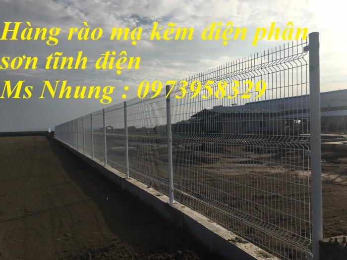 Hàng rào lưới thép mà kẽm sơn tĩnh điện - nhúng nóng bẻ gập đầu tam giagiacs3