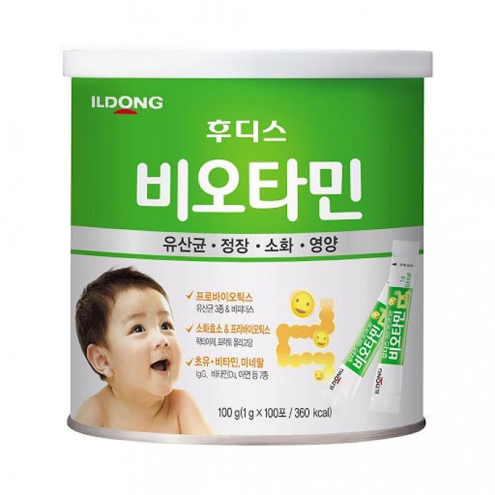 Men vi sinh ILDong là sản phẩm được bào chế từ Lactobacillus, Bifidus, Oligosaccharide, cùng các enzyme tiêu hóa và các vitamin, khoáng chất, thành phần có nguồn gốc từ sữa non tốt cho sức khỏe hệ tiêu hóa của bé. Sản phẩm dùng được cho bé từ sơ sinh.0