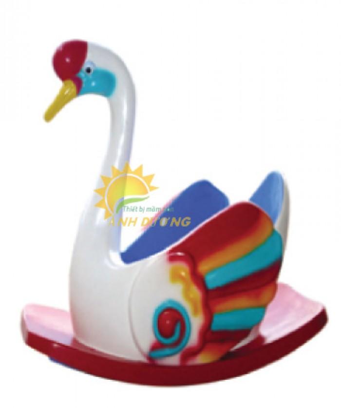 Bập bênh đơn hình con vật đáng yêu nhiều màu sắc cho bé mầm non17