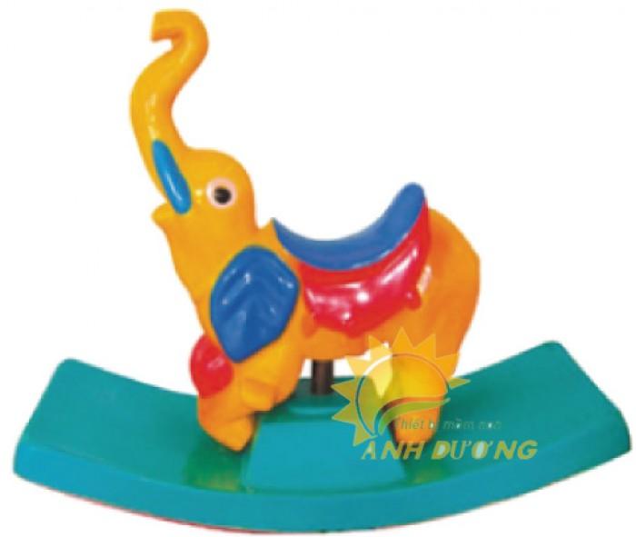Bập bênh đơn hình con vật đáng yêu nhiều màu sắc cho bé mầm non16