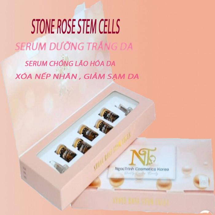 Serum dưỡng trắng da trị nám mụn Stone Rose stem cells