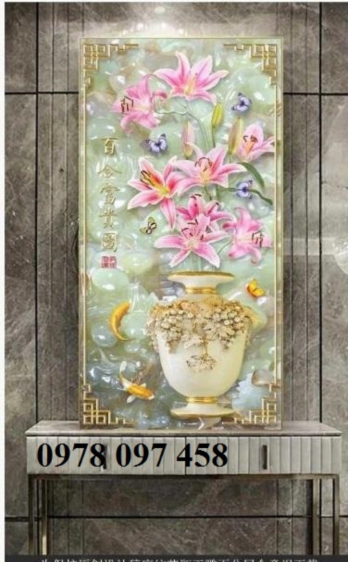 Tranh vườn hoa - tranh gạch3