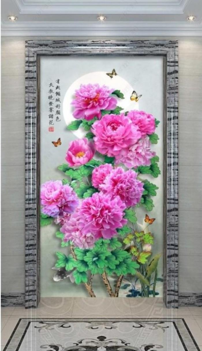 Tranh vườn hoa - tranh gạch5