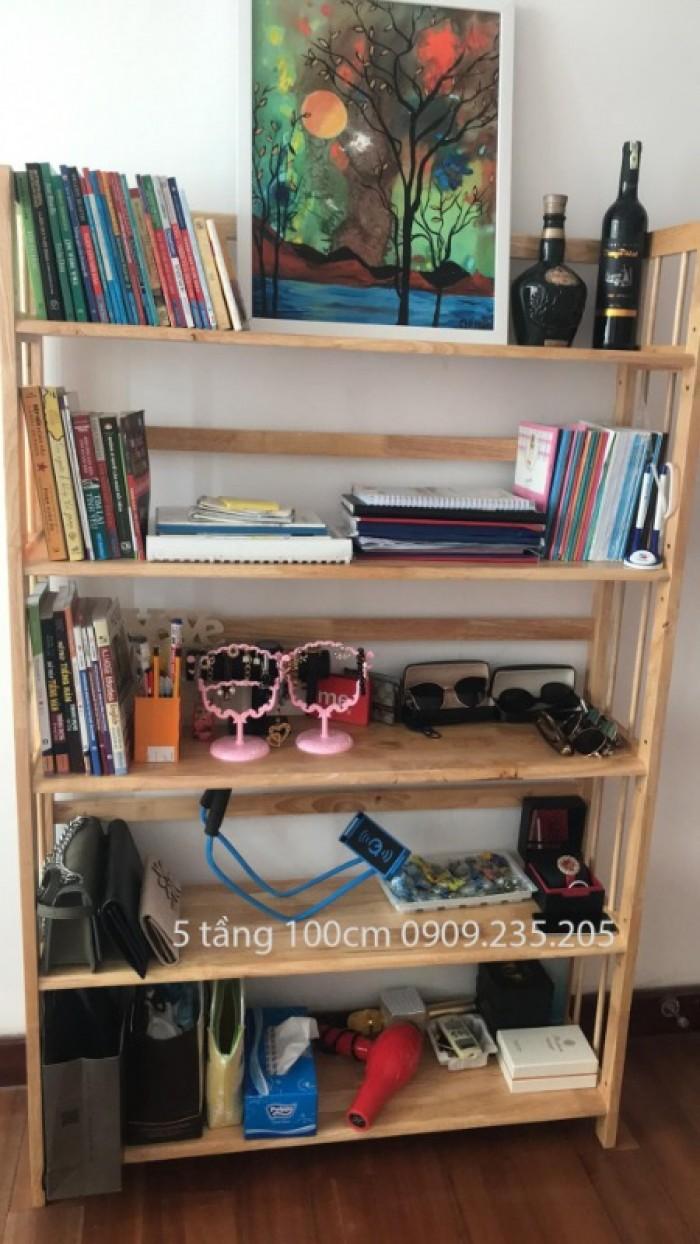 Kệ sách gỗ 5 tầng 100cm (Tự Nhiên)0