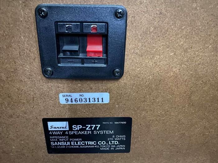 LOA SANSUI SP-Z77 JAPAN