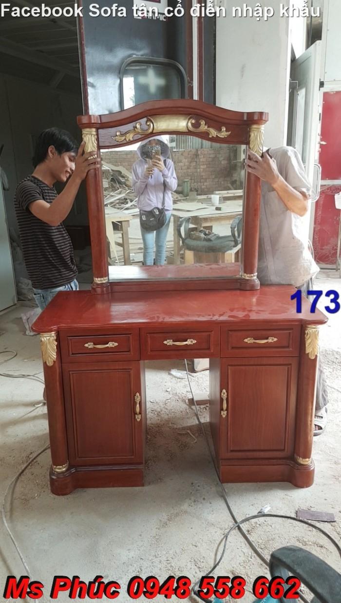bàn phấn sơn màu gỗ tự nhiên19