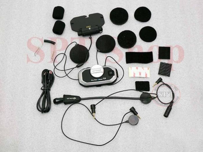 Tai Nghe Bluetooth Gắn Mũ Bảo Hiểm Vimoto V8 Cao Cấp0