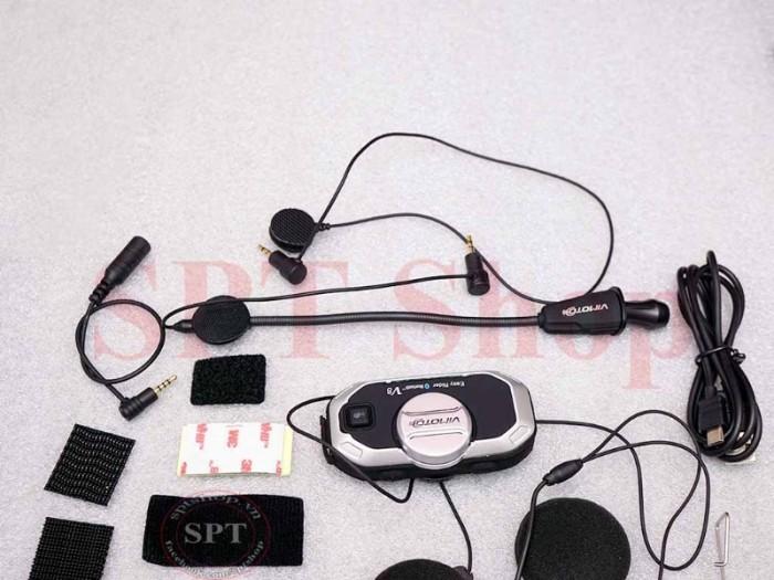 Tai Nghe Bluetooth Gắn Mũ Bảo Hiểm Vimoto V8 Cao Cấp7