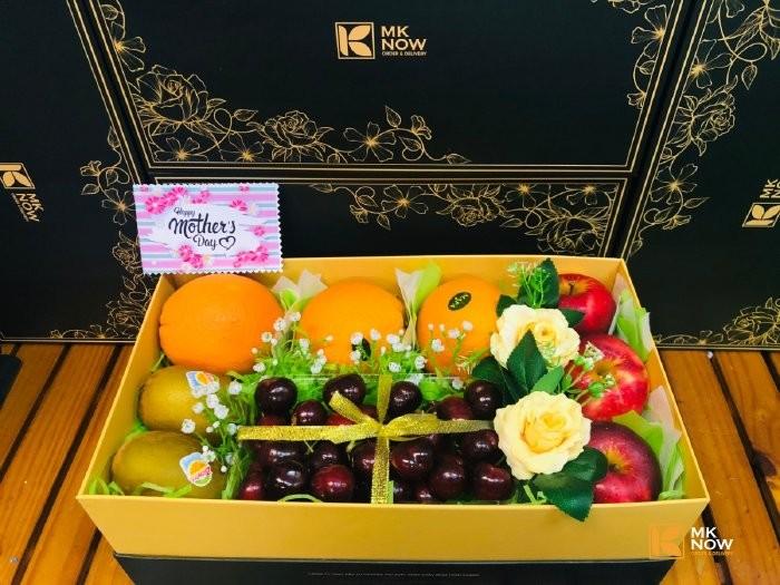 Đặt Hộp trái cây đẹp biếu tặng - FSNK146 Gọi 0373 600 6000