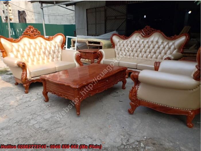 bàn ghế phòng khách tân cổ điển gỗ đỏ16