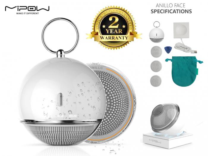 """Với thiết kế như một món trang sức, thêm vào đó Anillo được trang bị một chiếc """"vòng"""" phía trên để có thể treo dễ dàng trong phòng tắm và cũng thuận lợi cho việc đi lại, du lịch. Aniilo được trang bị bằng đế sạc không dây giúp tiện lợi và tiết kiệm thời gian hơn cho người dùng.0"""