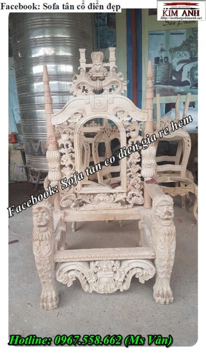 xưởng bán khung ghế vua hoàng gia đẹp