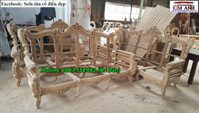 xưởng sản xuất khung ghế sofa cổ điển cao cấp