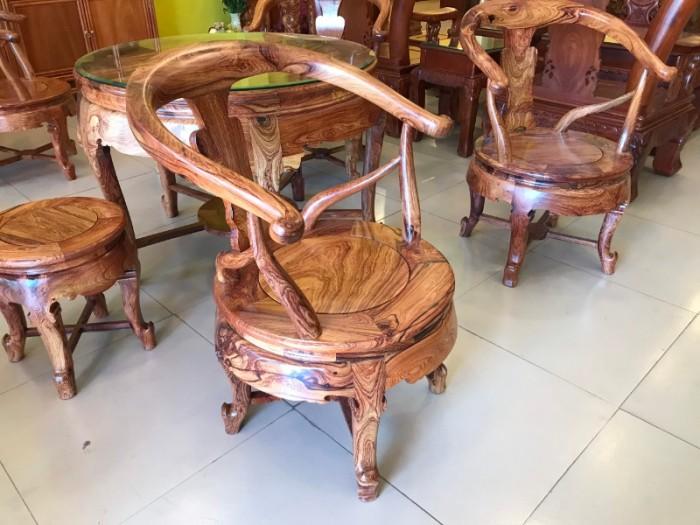 Bộ bàn ghế móc thúng gỗ cẩm lai hàng tuyển chọn VIP2