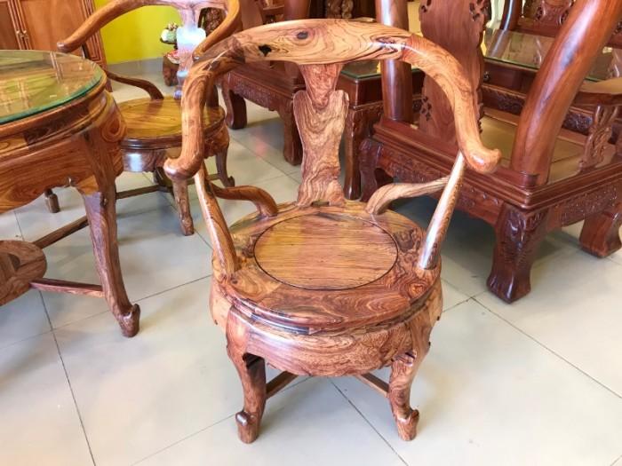 Bộ bàn ghế móc thúng gỗ cẩm lai hàng tuyển chọn VIP0