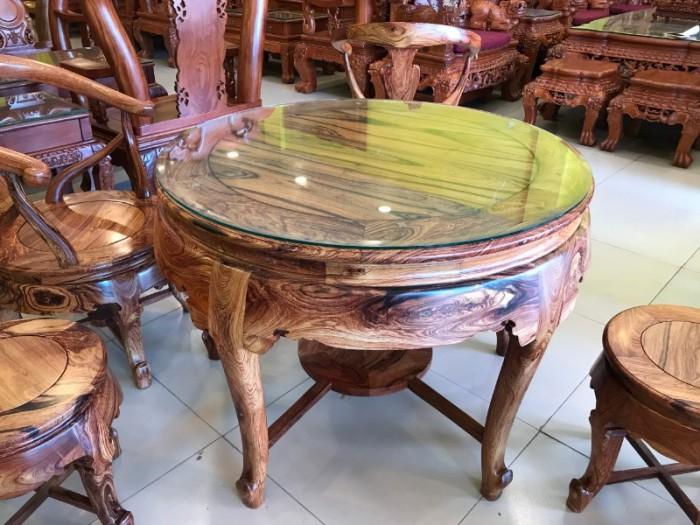 Bộ bàn ghế móc thúng gỗ cẩm lai hàng tuyển chọn VIP3