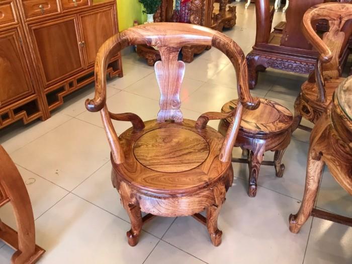 Bộ bàn ghế móc thúng gỗ cẩm lai hàng tuyển chọn VIP5
